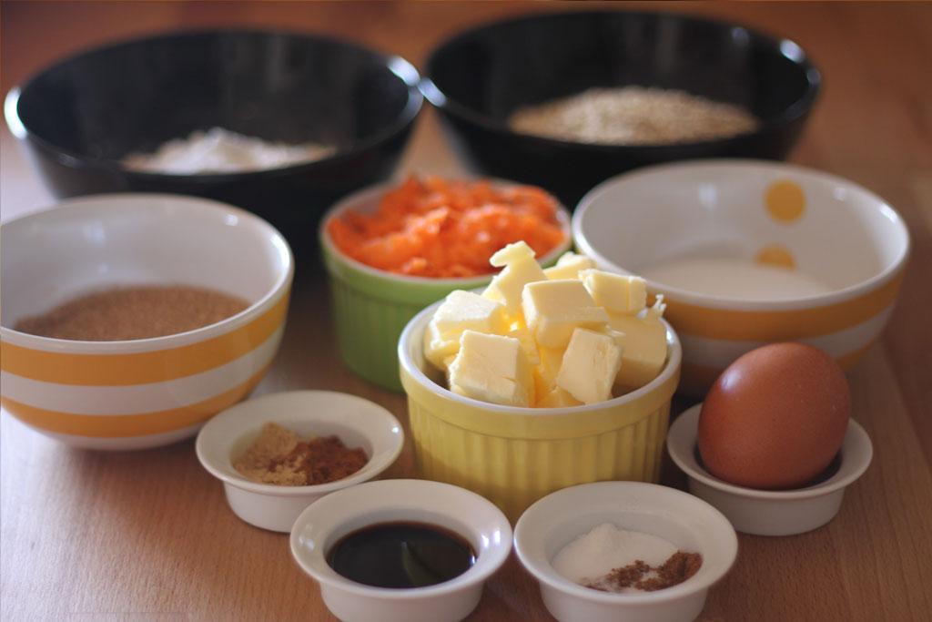 ingredientes-galletas-avena-zanahoria