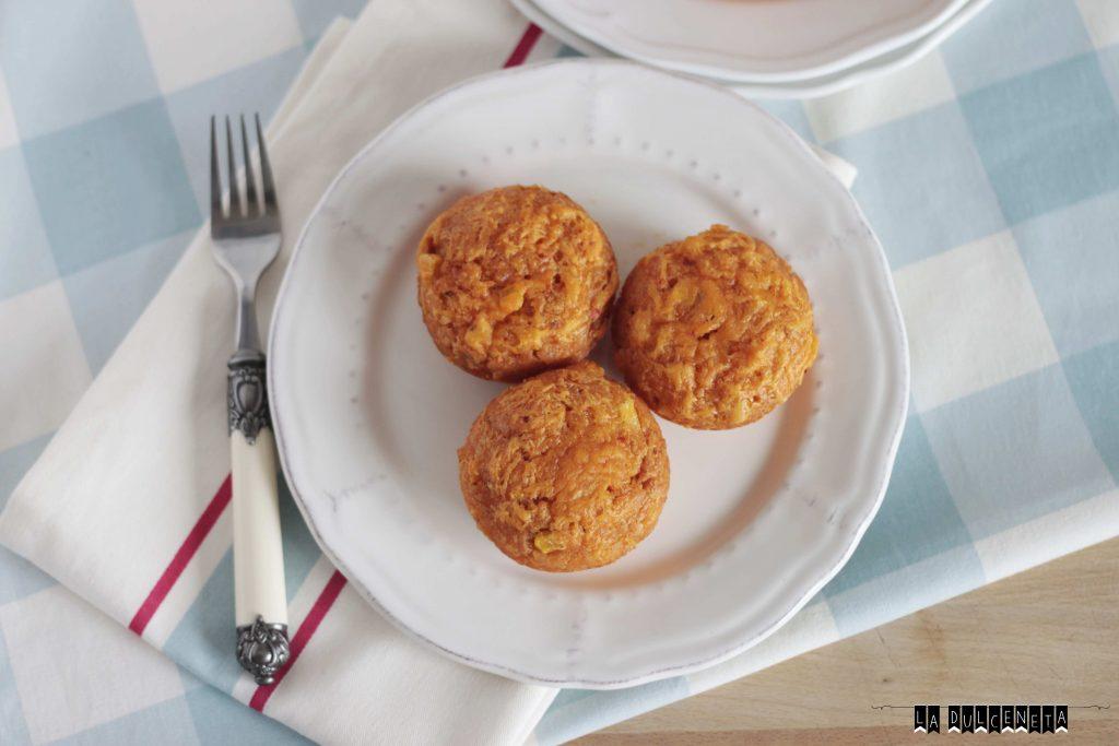 muffins de sobrasada y maíz