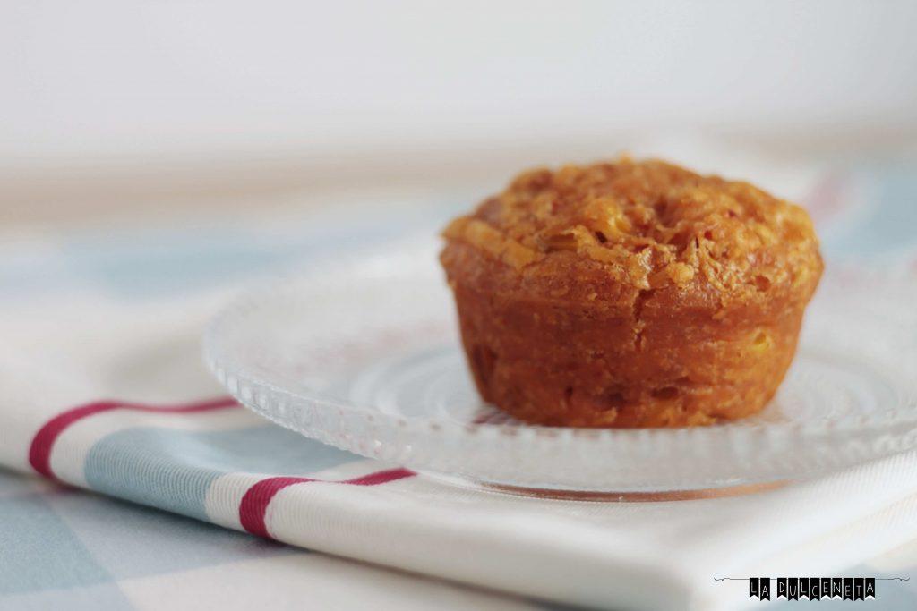 muffin maíz y sobrasada