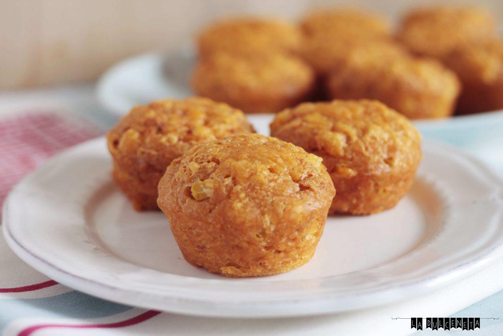 muffins de maíz y sobrasada