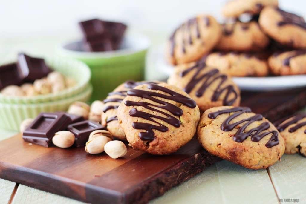 galletas de pistacho y chocolate