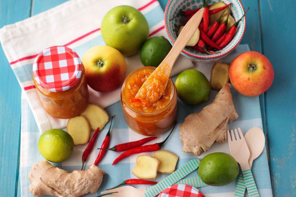 chutney de mango y jengibre picante