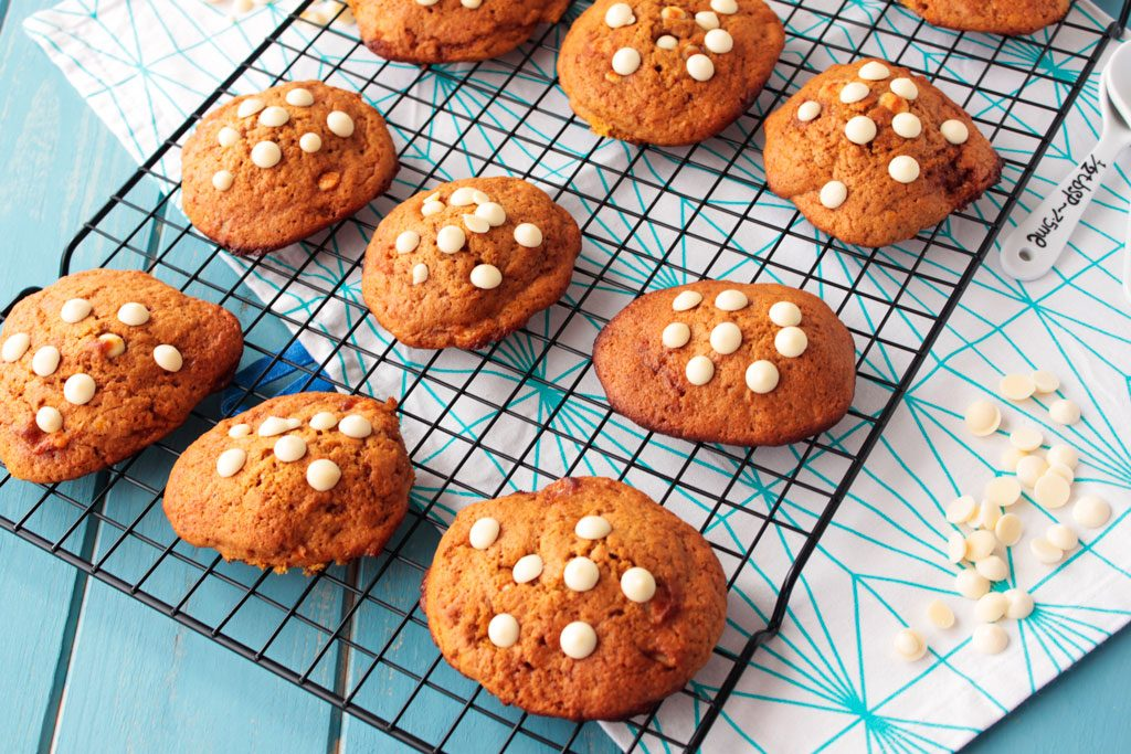 galletas de calabaza y chocolate blanco